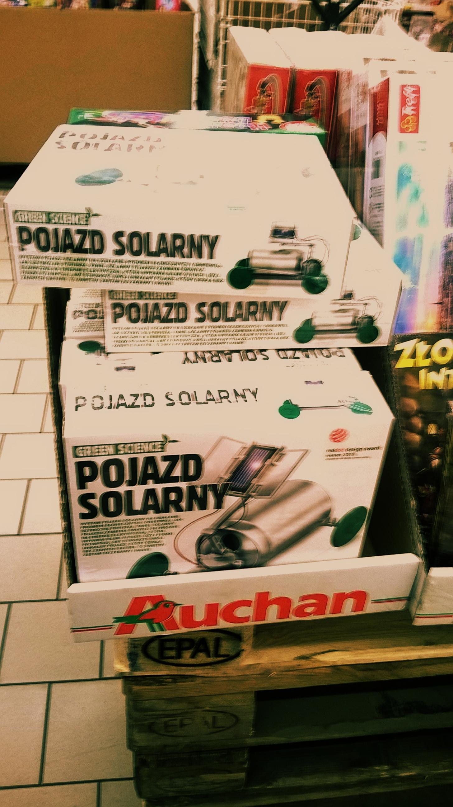 Pojazd Solarny kreatywna zabawa Green Science @ Auchan Okęcie