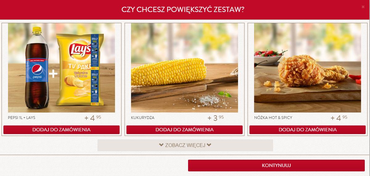 Przy zamawianiu z KFCDOSTAWA można dostać czipsy LAY's gratis :D