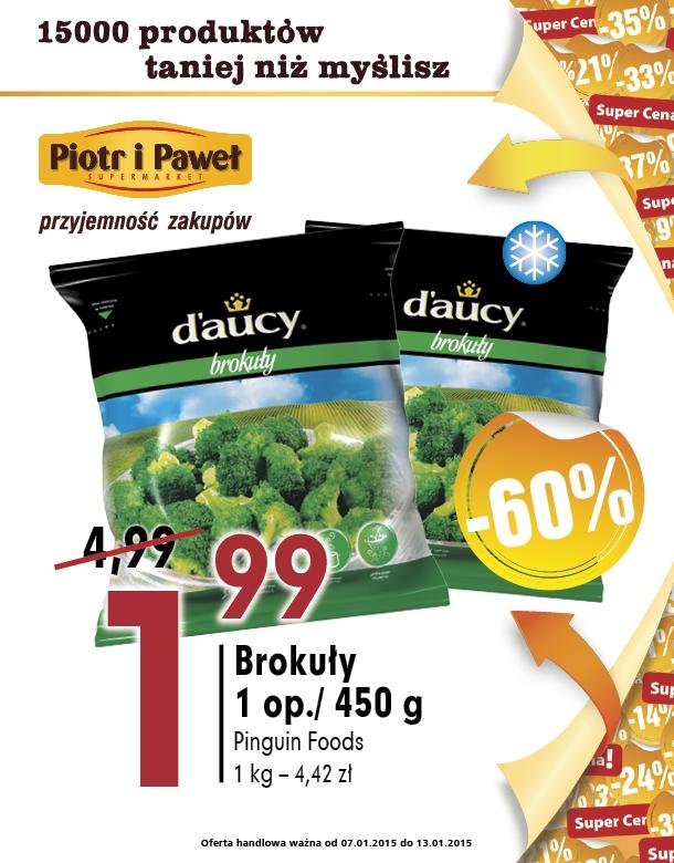 Brokuły mrożone 450g za 1,99zł @ Piotr i Paweł