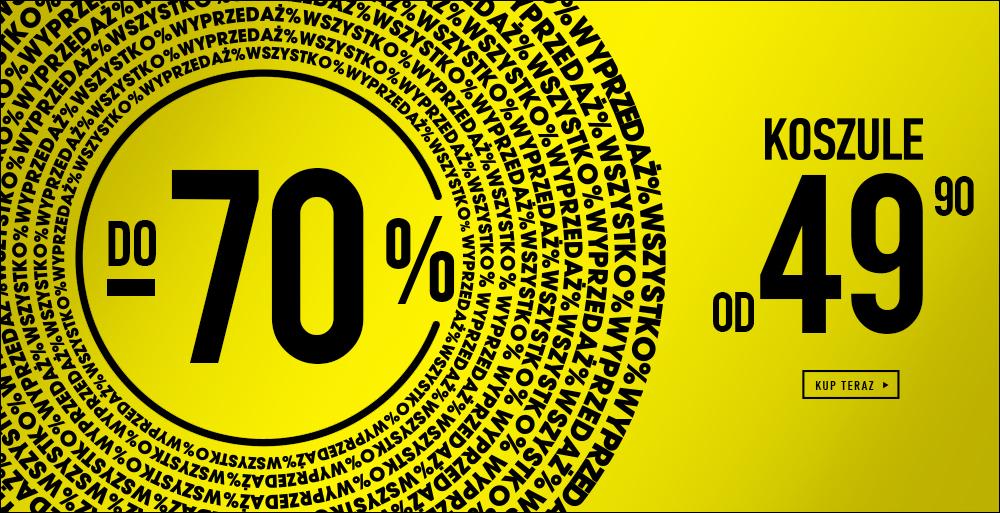 Wyprzedaż do -70% i koszule od 49,90zł @ Wólczanka