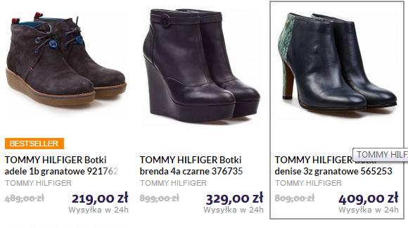 do -60% na buty (damskie i męskie) oraz torby marki Tommy Hilfiger @ Agito