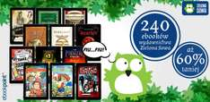 240 e-booków wydawnictwa Zielona Sowa aż 60% TANIEJ @ ebookpoint