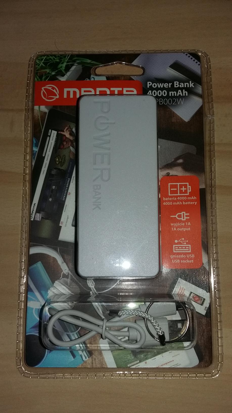 Powerbank Manta MPB002W 4000mAh (Auchan Bytom)