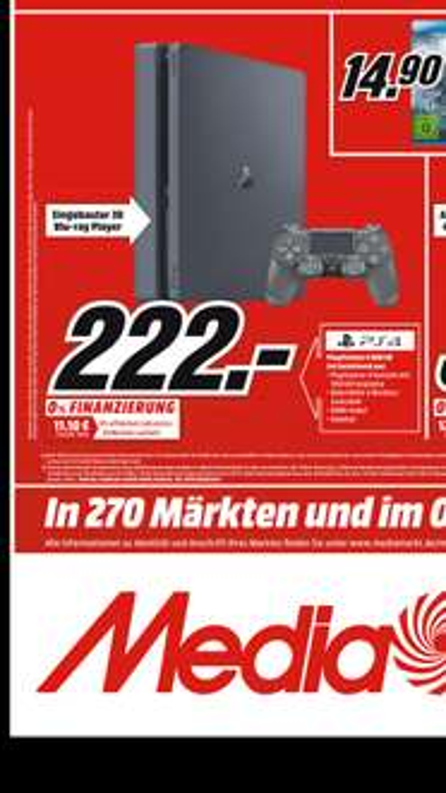 Od 03.05 promocja w niemieckim mediamarkcie na PlayStation 4 500gb