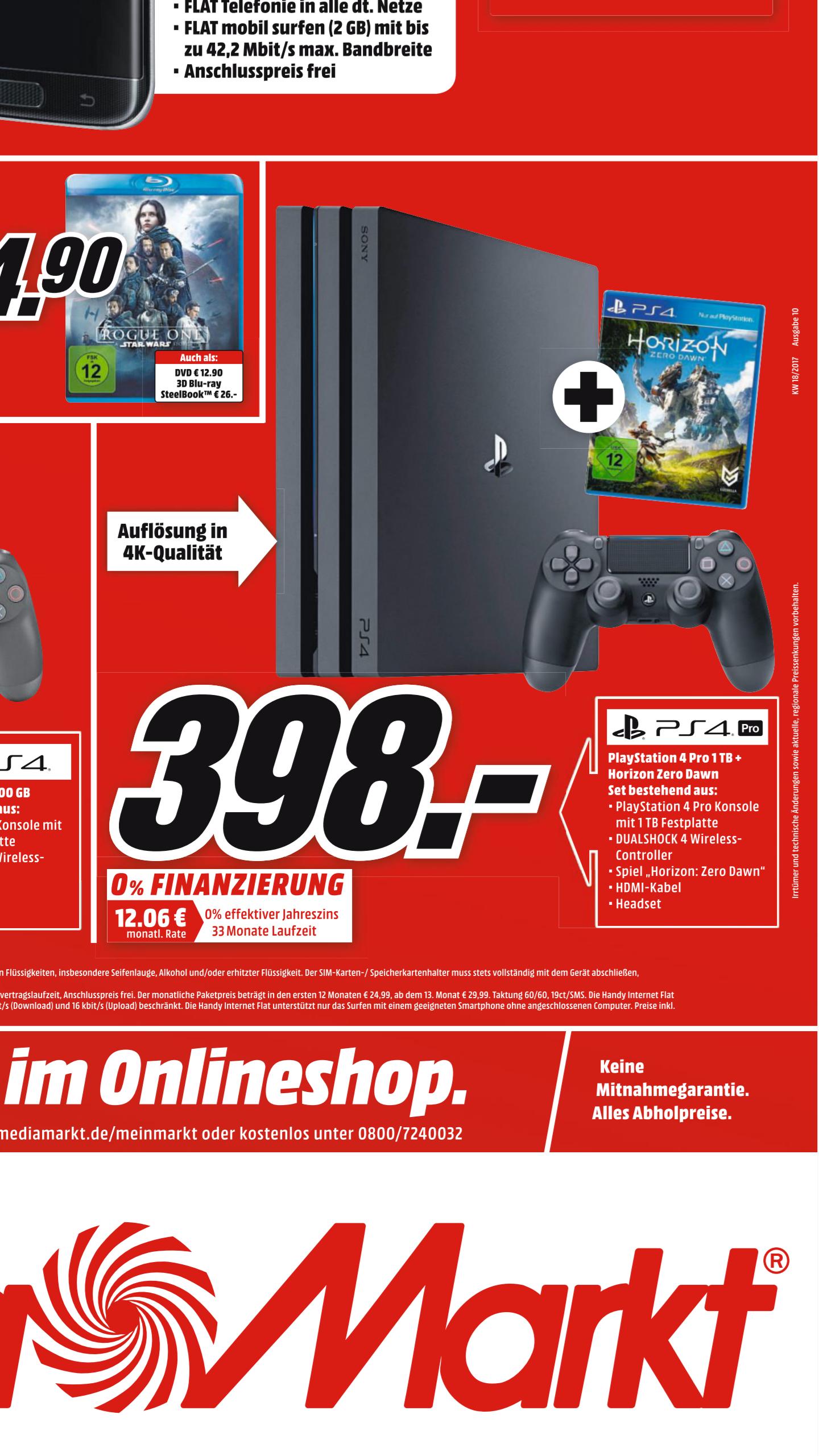 Od 03.05 w niemieckim mediamarkt PlayStation 4 pro plus Horizon Zero Down