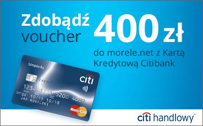 400zł do wydania w Morele.net za założenie darmowej karty kredytowej Simplecity @ CitiBank