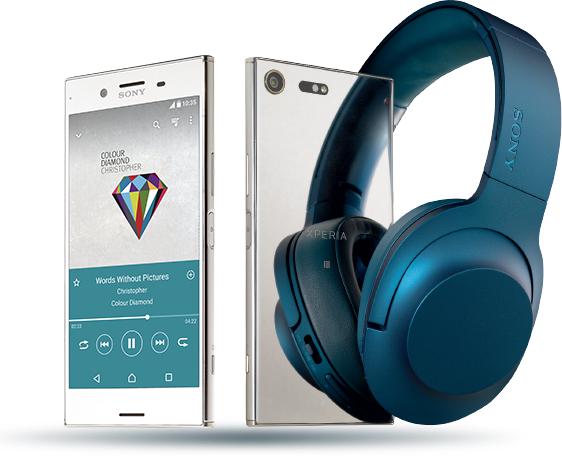 Sony Xperia XZ Premium plus słuchawki Sony MDR-100ABN