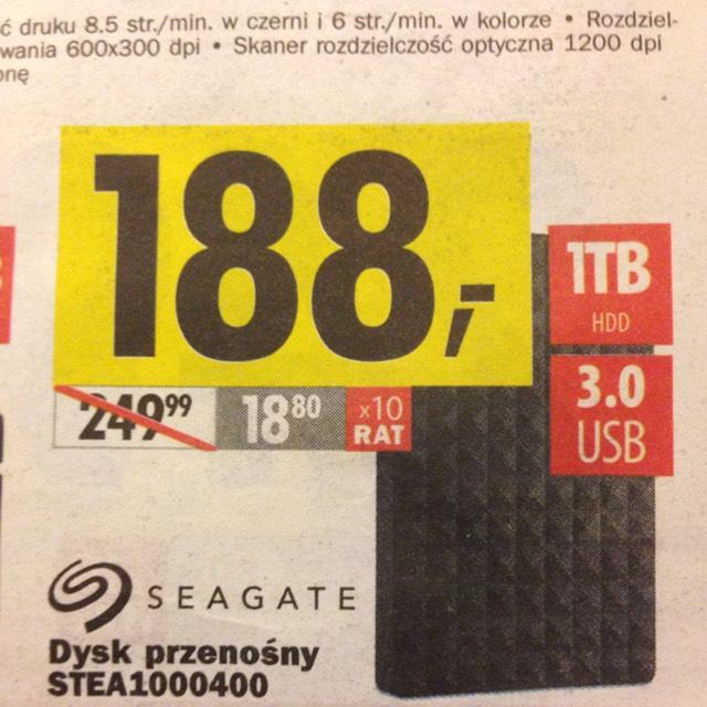 Dysk przenośny Seagate 1Tb 3.0