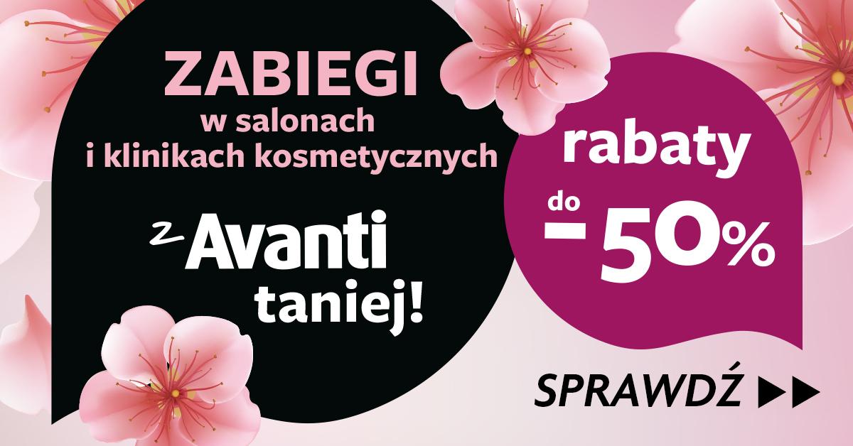 Kupony rabatowe na kosmetyki i do salonów kosmetycznych w gazecie Avanti