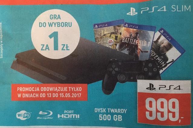 PlayStation 4 SLIM 500GB za 999zł a nawet za 860zł - cashback @NEONET