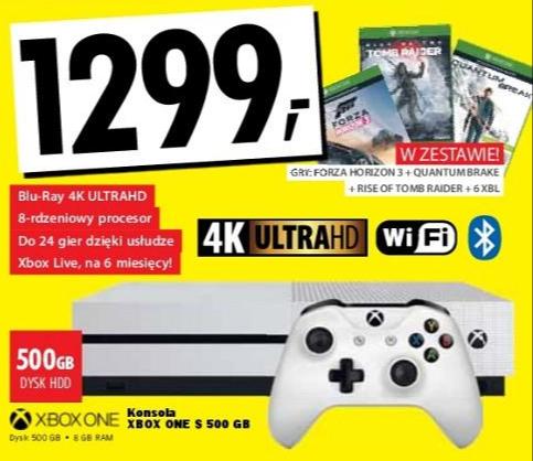 Xbox One S + 3 gry  @ Media Expert.