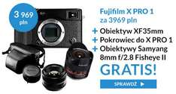 aparat Fujifilm X-Pro 1 (2 obiektywy+pokrowiec) w REWELACYJNEJ cenie! @ Proclub