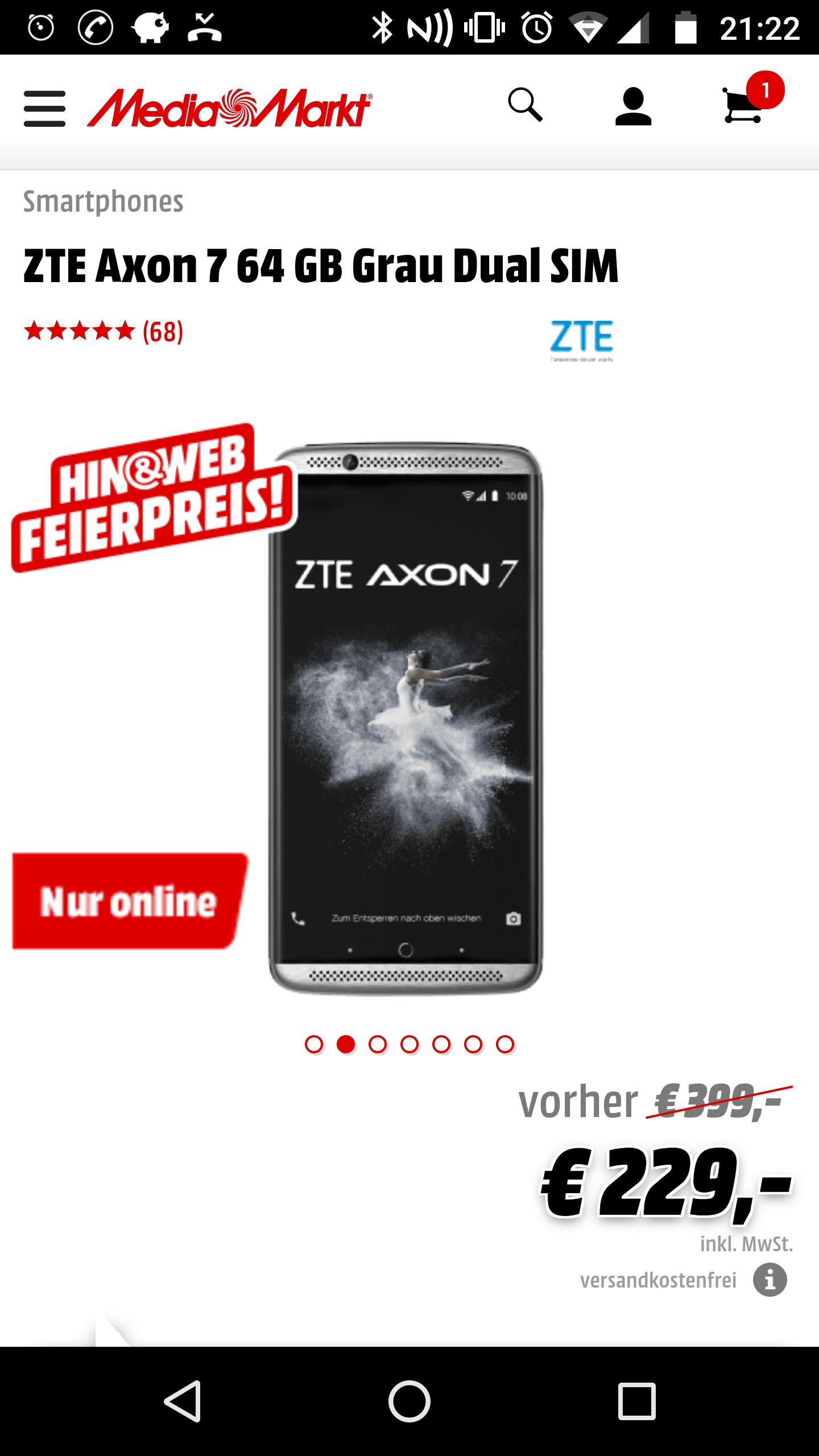 W niemieckim mediamarkcie ZTE Axon 7 64 GB za 229 euro