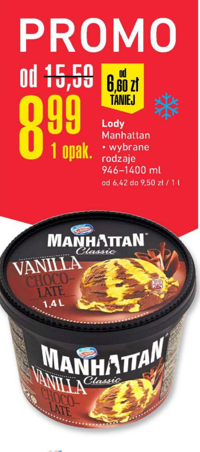 Lody Manhattam Specialities 946ml, Classic 1400ml w @Intermarche i @E.Leclerc