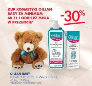 Miś gratis przy zakupie kosmetyków Oillan Baby (-30%) za min.40zł @ Super-Pharm