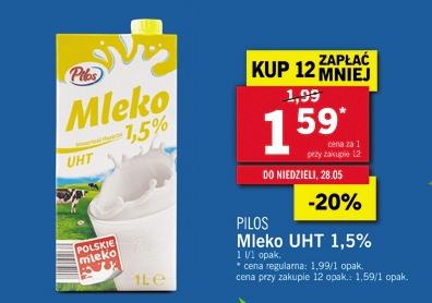 Mleko UHT 1,5% Pilos Lidl
