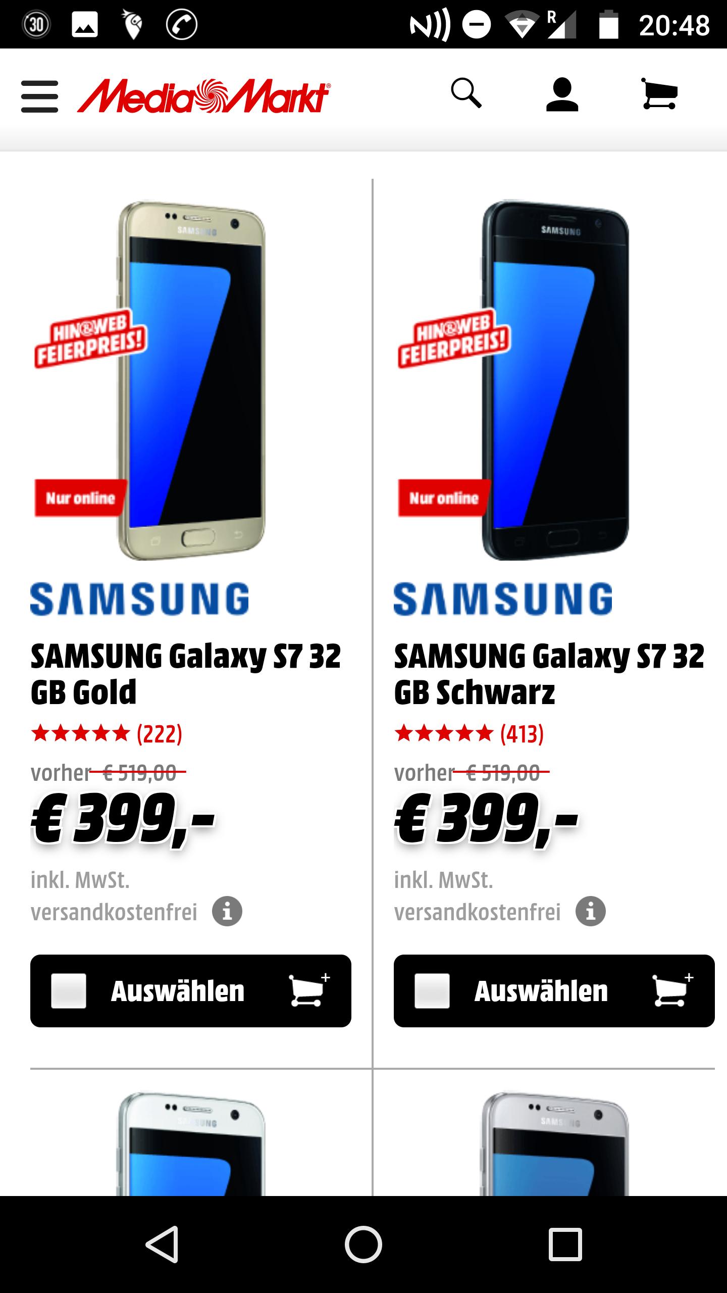 Samsung s7 plus pilka addidas i powerbank w niemieckim mediamarkcie
