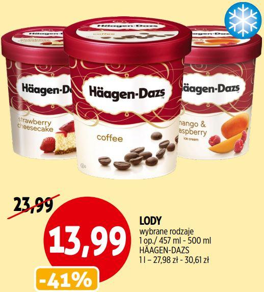 (23-28.05) Lody Haagen-Danz 500ml, różne smaki za 13,99zł @ Piotr i Paweł