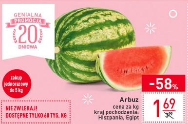 Arbuz cena za kg środa 24.05 Carrefour