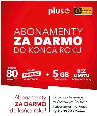 Plus i Cyfrowy Polsat DwuPak - TV i telefon do końca roku za darmo
