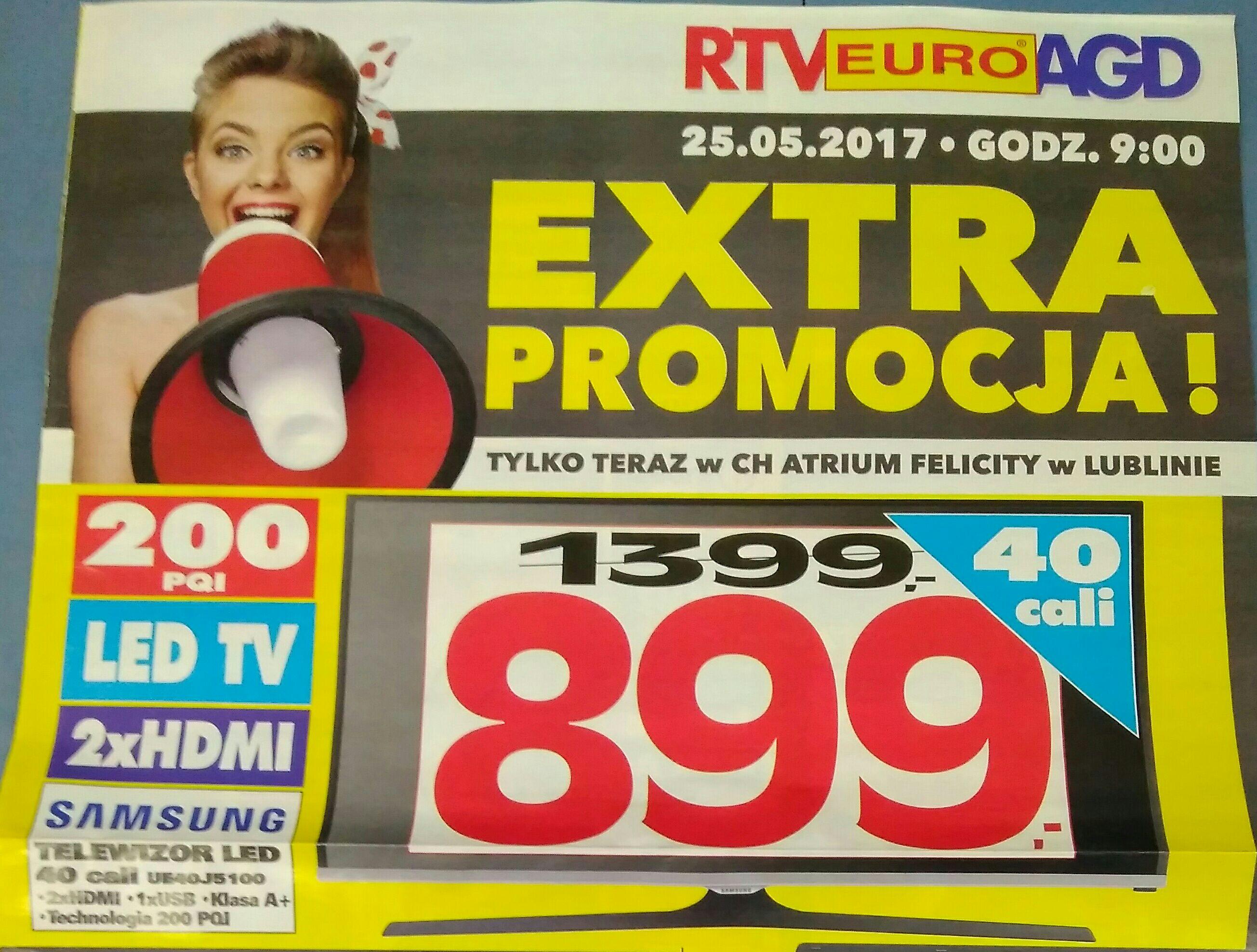 Samsung 40j5100 RTVEUROAGD Lublin Felicity od 25.05
