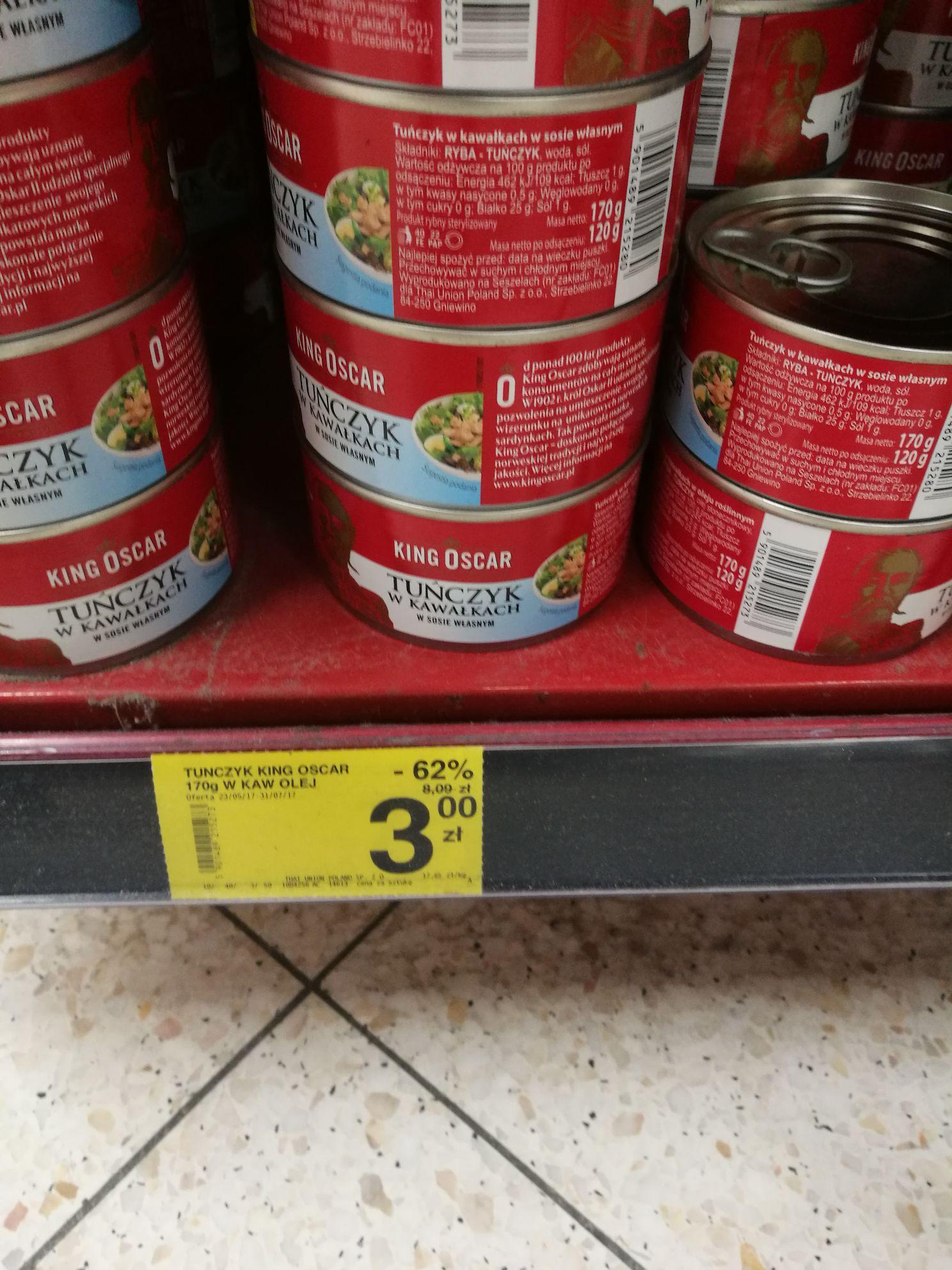 Tuńczyk w kawałkach w oleju Carrefour Gdańsk