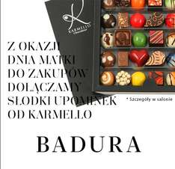 Do -20% na torebki i buty oraz czekoladki Karmello gratis @ Badura