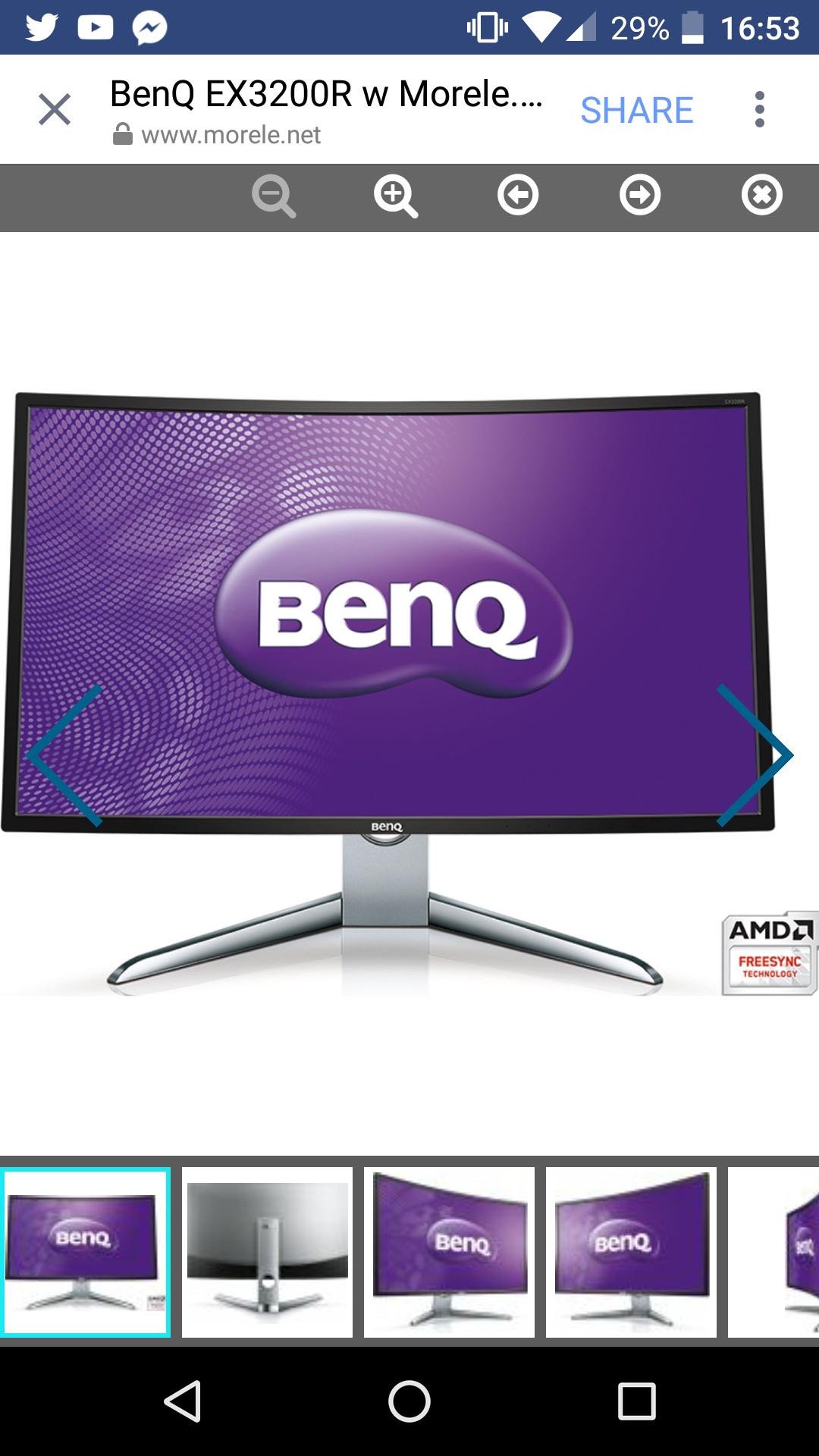 Monitor BenQ EX3200R taniej o 470 zl