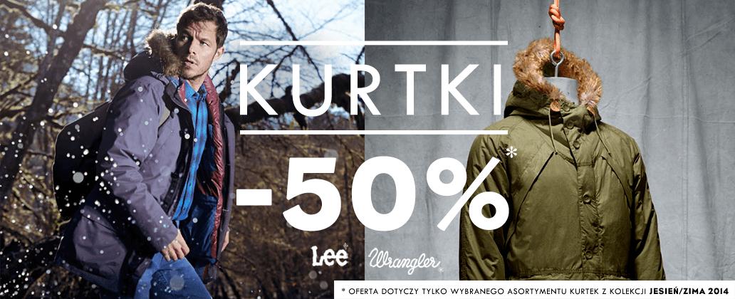 50% rabatu na kurtki Lee i Wrangler @ Silesia Jeans