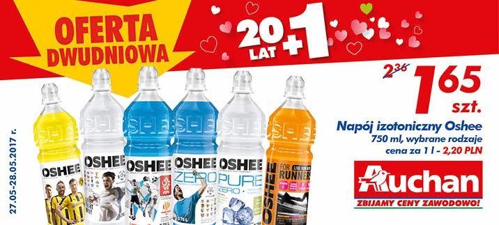 Napój izotoniczny Oshee 750ml różne rodzaje Auchan
