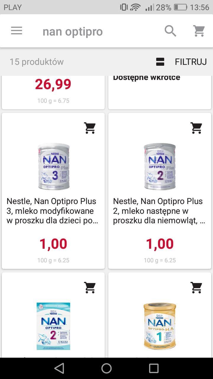 Nan Optipro Plus 2 i 3 za 1zł. @rossmann