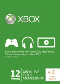 Abonament 15 miesięczny Xbox Live Gold