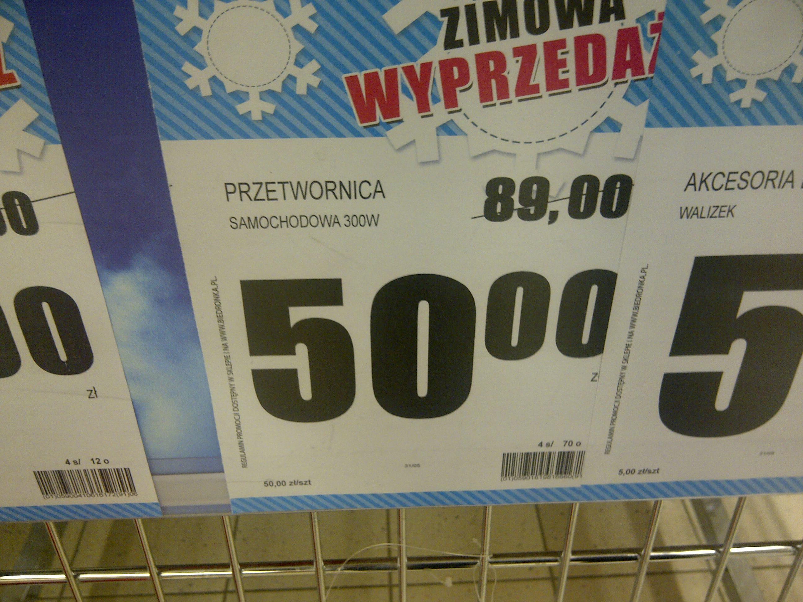Przetwornica samochodowa 300W za 50 zł @ biedronka