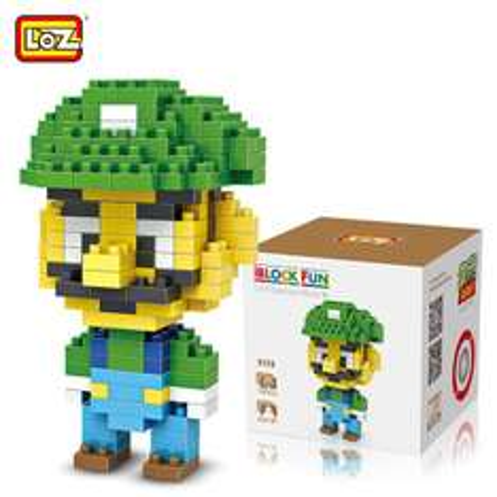 Klocki Super Mario Bros -  LOZ Luigi (160 szt.) ~6zł (możliwe ~4,25zł) @ Gamiss