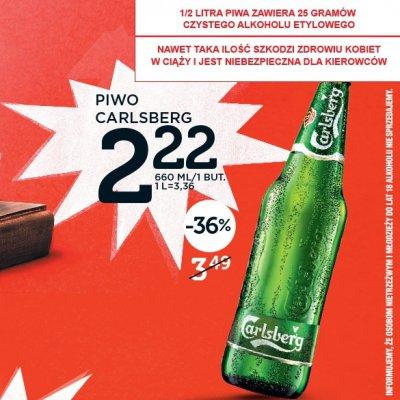 Carlsberg 0,66l za 2,22zł @ LIDL