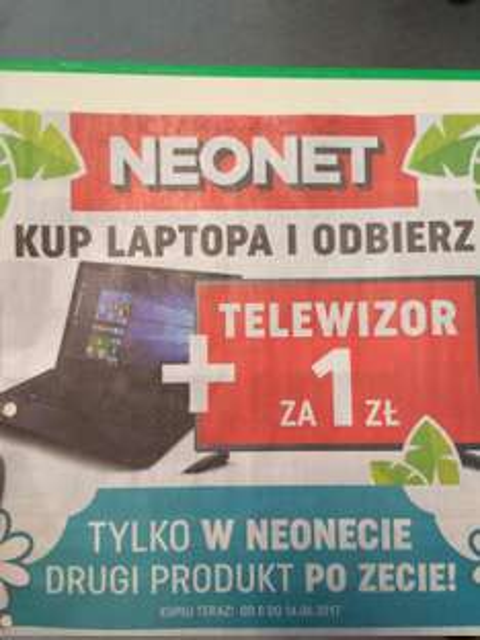 Kup laptopa i odbierz TV za 1 zł