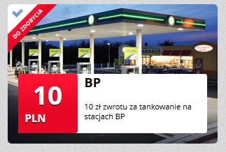 10 PLN zwrotu na paliwo BP od mBank