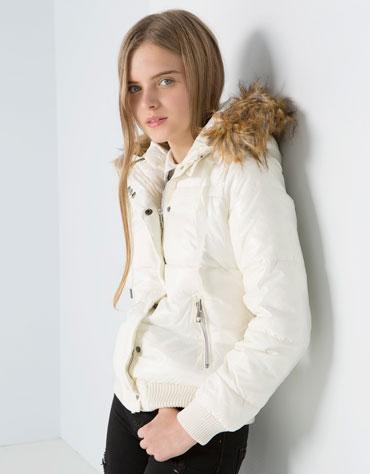 Nylonowa kurtka z kapturem za 44,90zł @ Bershka