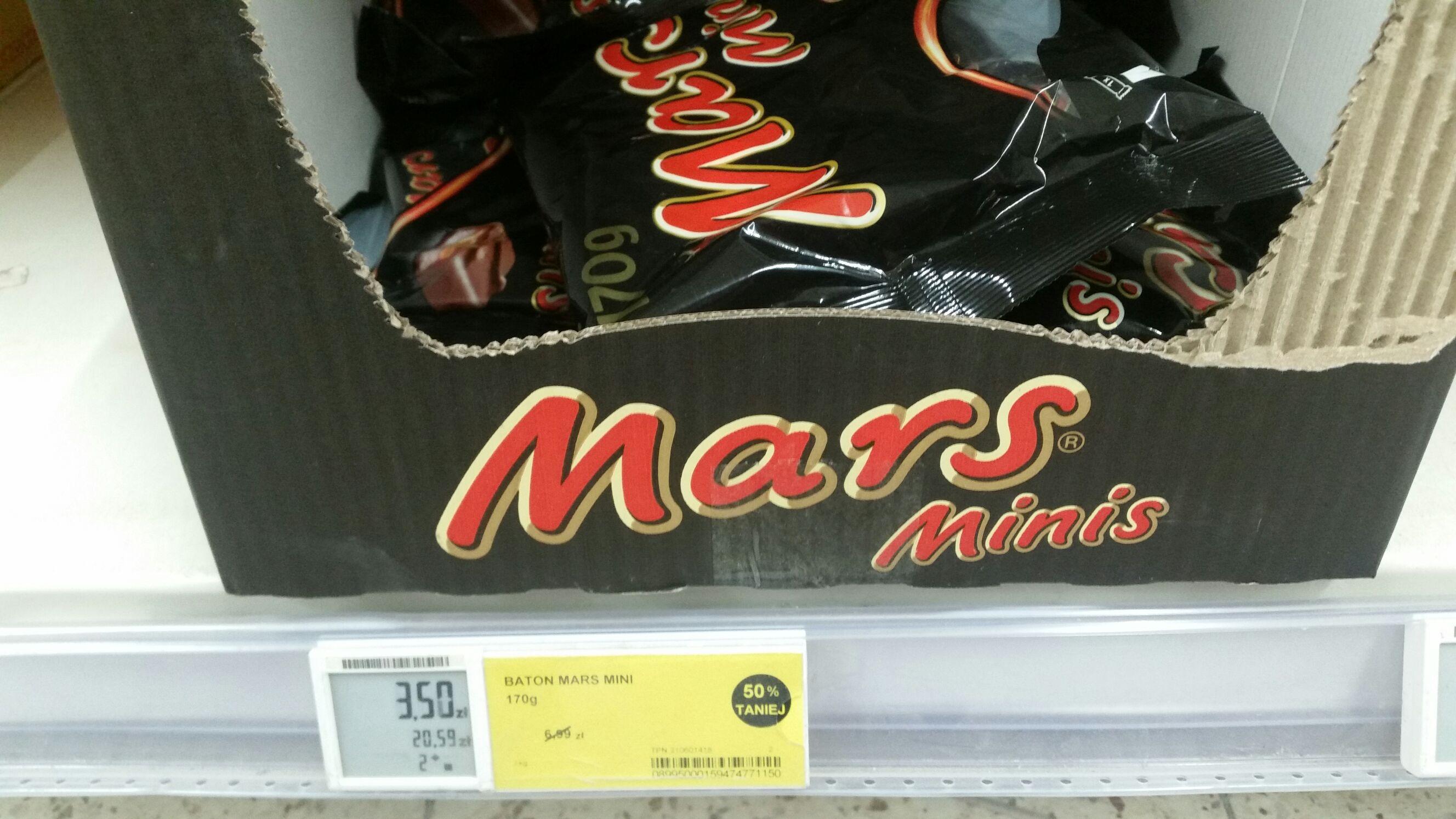 TEESCO Mini batony Mars, Bounty i Milky Way -50%