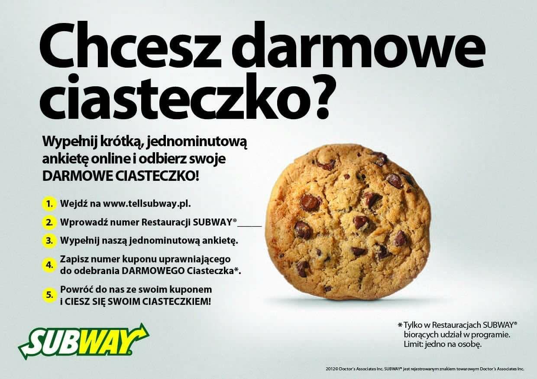 Darmowe ciastko za wypełnienie ankiety @Subway