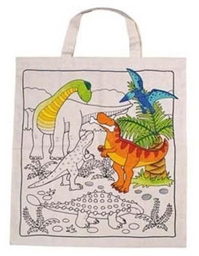 Torba w dinozaury do kolorowania za 5,89zł + dostawa gratis @ Ravelo