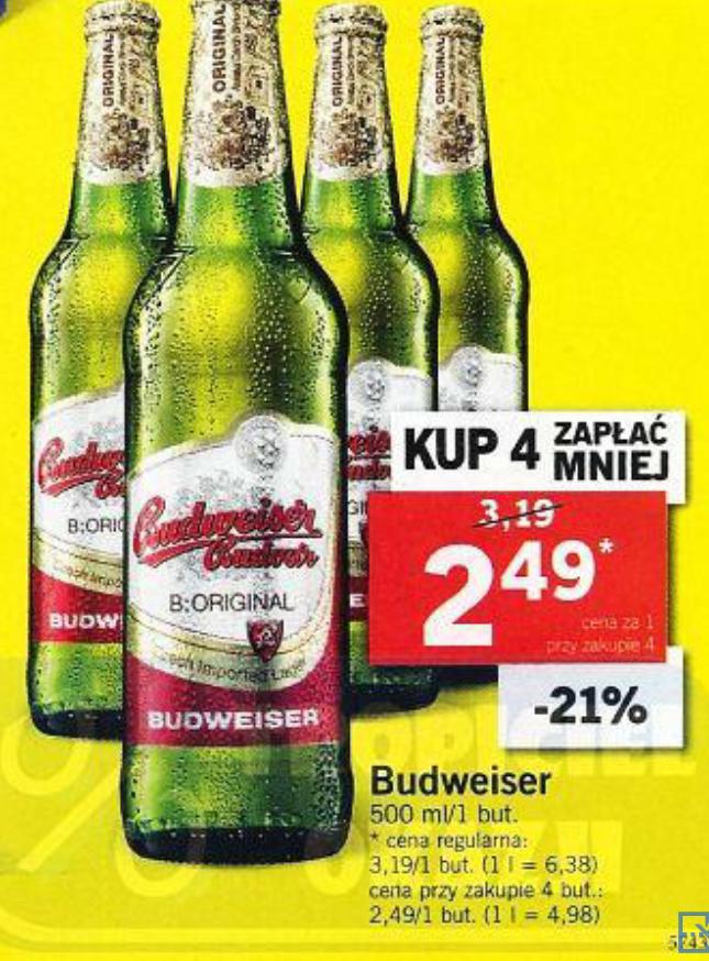 Budweiser 4x0,5l i Browarnia @Lidl