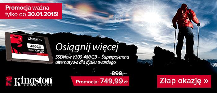 Dysk SSD 2,5' Kingston V300 o pojemności 480GB za 749,99zł @ Agito