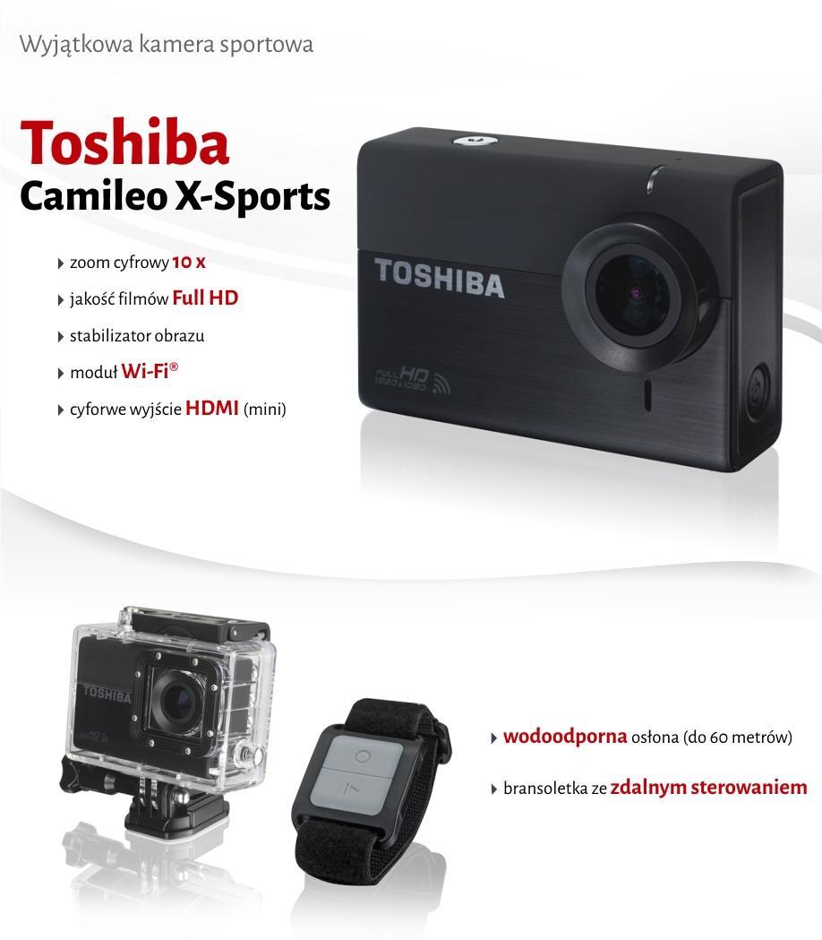 Kamera Toshiba Camileo X-Sports (FullHD, Wi-Fi) + Zestaw @ Allegro