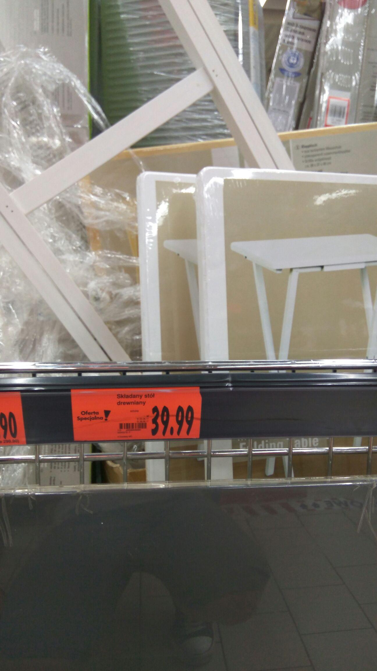 Błąd cenowy! (Kaufland - Mysłowice) Składany stolik drewniany