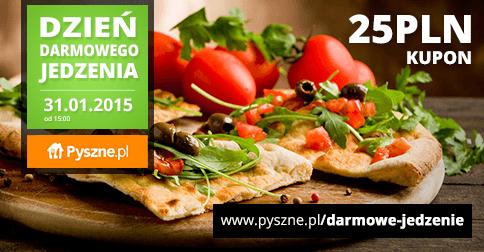 Dzień darmowego jedzenia (kod rabatowy 25zł) @ Pyszne.pl