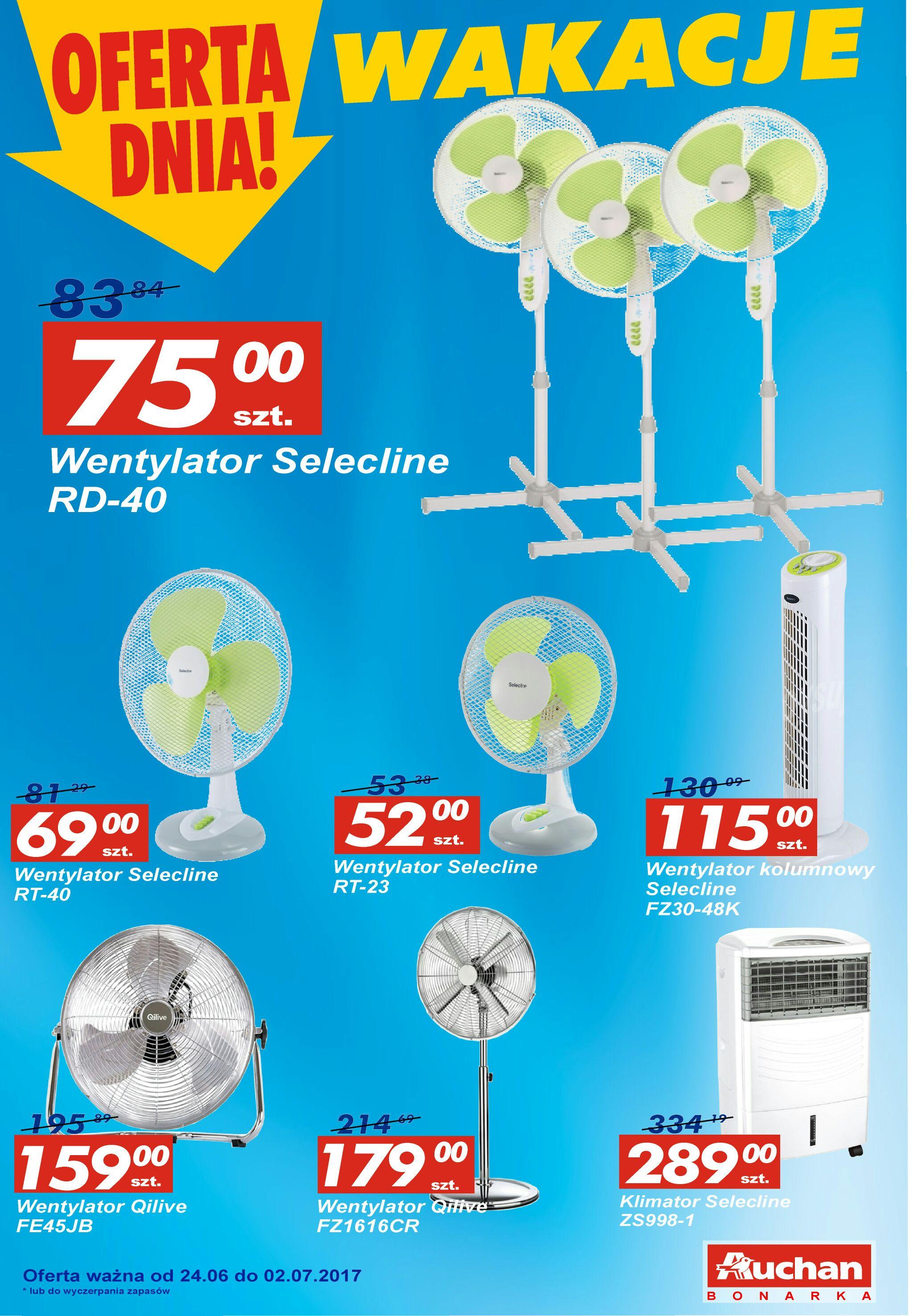 Oferta promocyjna na wentylatory w Auchan Bonarka