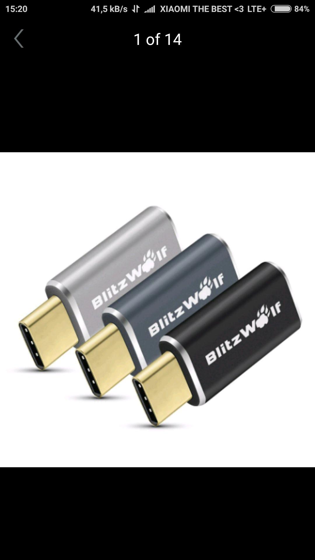 Przejściówka Blitzwolf microusb --> USB type C @banggood