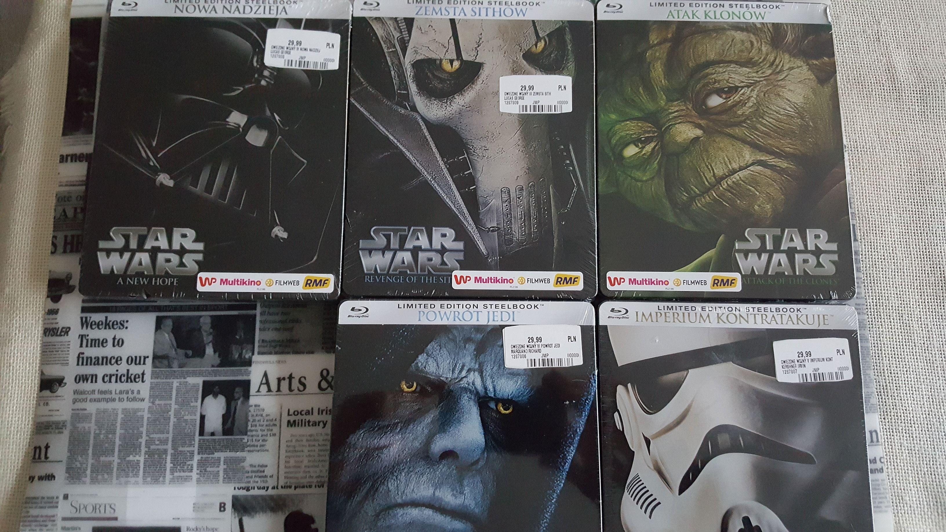 Star Wars Bluray Steelbook Epizody 2-6