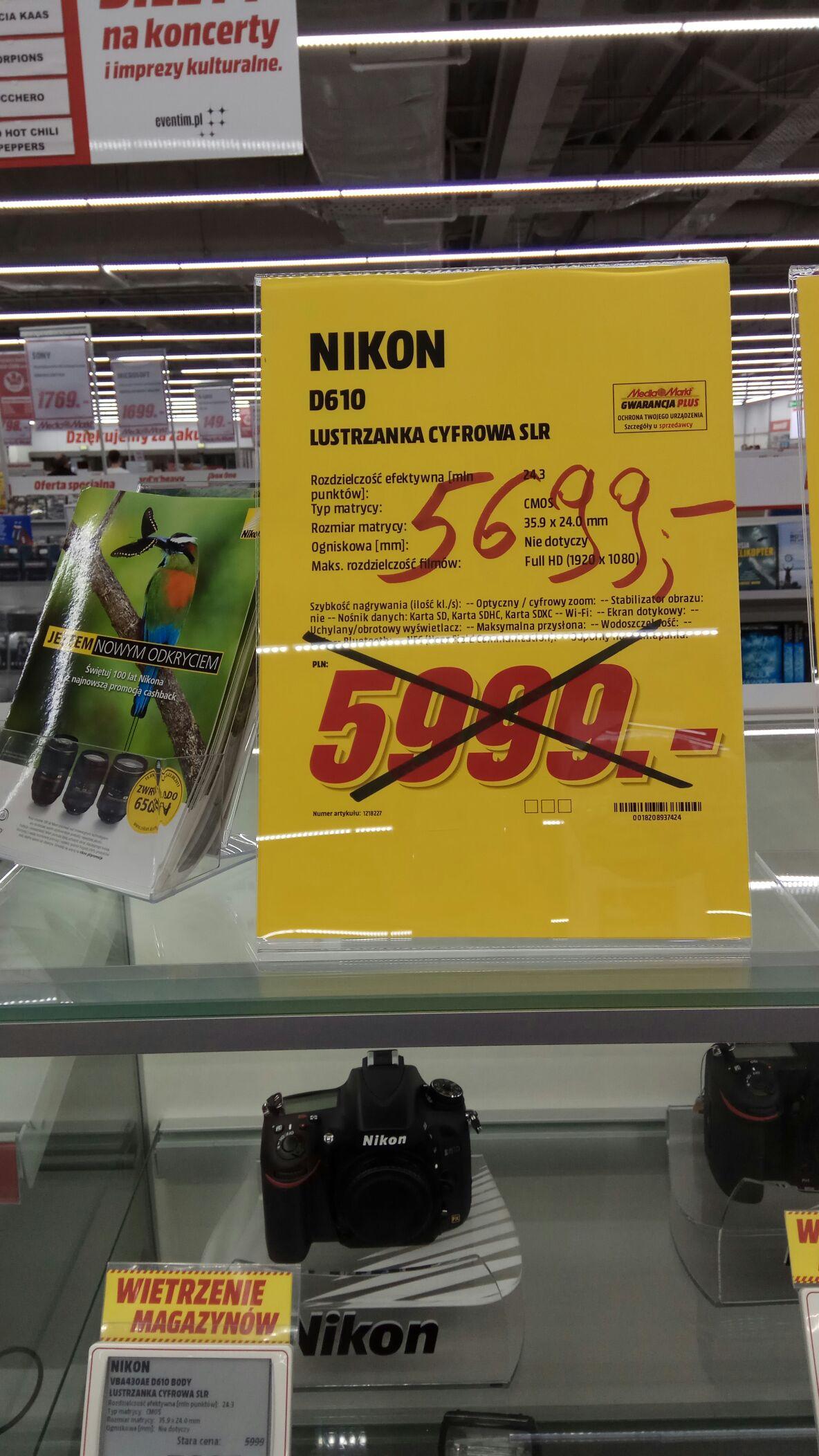 Nikon D610 MediaMarkt Olsztyn